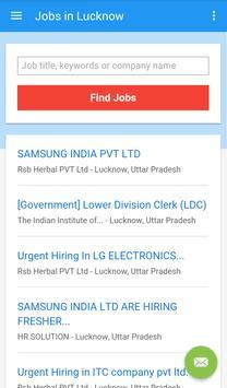 Jobs in Lucknow, India apk screenshot
