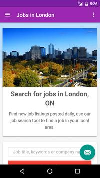 Jobs in London, Canada poster