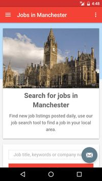 Jobs in Manchester, UK poster