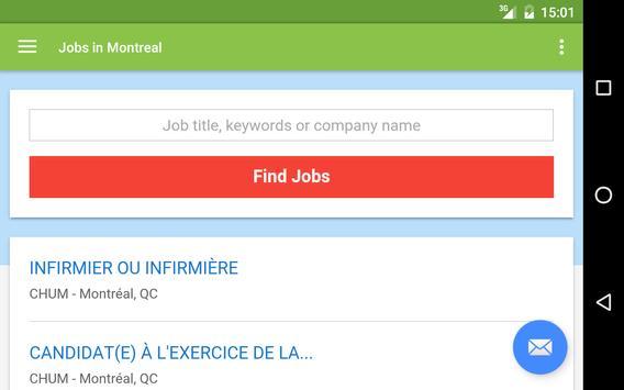 Jobs in Montreal, Canada apk screenshot