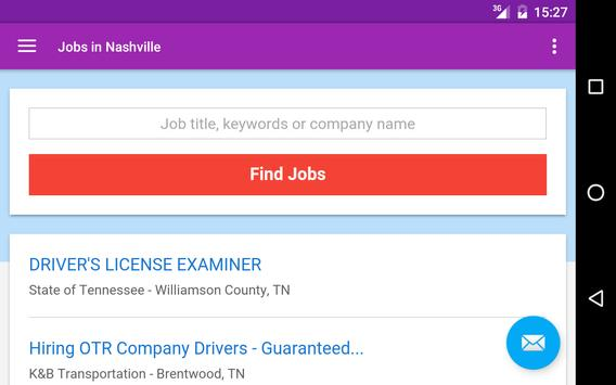 Jobs in Nashville, TN, USA apk screenshot
