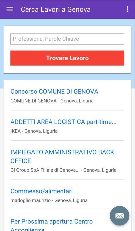 Offerte Di Lavoro Genova For Android Apk Download
