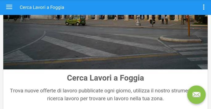 Offerte di Lavoro Foggia apk screenshot