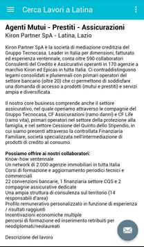 Offerte di Lavoro Latina screenshot 3