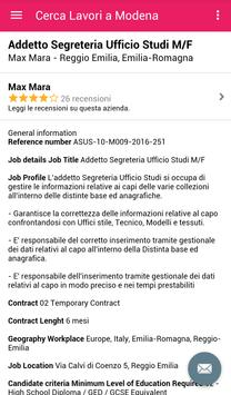 Offerte di Lavoro Modena screenshot 3