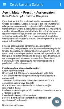Offerte di Lavoro Salerno apk screenshot