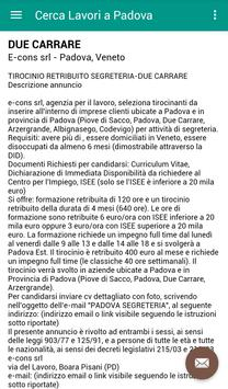 Offerte di Lavoro Padova screenshot 3