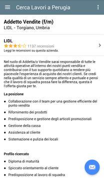 Offerte di Lavoro Perugia apk screenshot