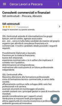 Offerte di Lavoro Pescara apk screenshot