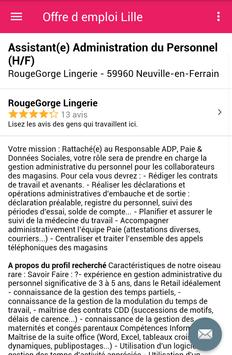 Offre d emploi Lille screenshot 3