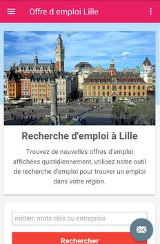 Offre d emploi Lille poster
