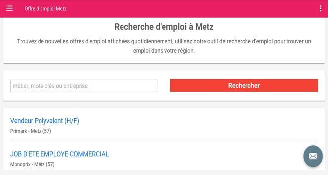 Offre d emploi Metz screenshot 4