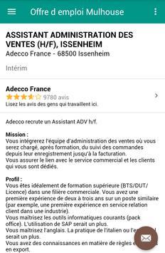 Offre d emploi Mulhouse screenshot 3