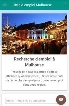 Offre d emploi Mulhouse poster