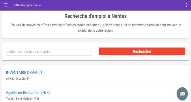 Offre d emploi Nantes screenshot 4