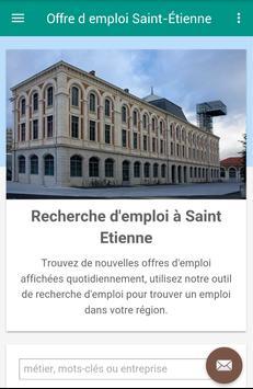 Offre d emploi Saint-Étienne poster