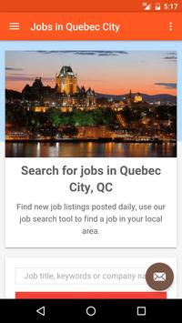 Jobs in Quebec City, Canada poster