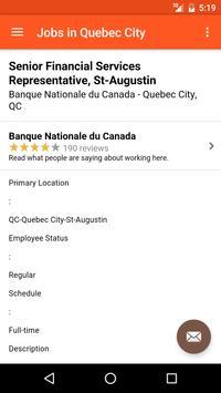 Jobs in Quebec City, Canada apk screenshot