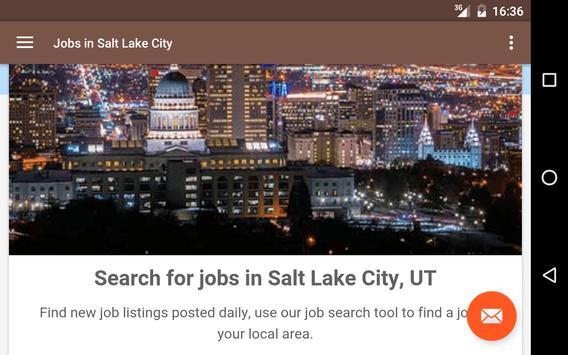 Jobs in Salt Lake City, UT USA apk screenshot