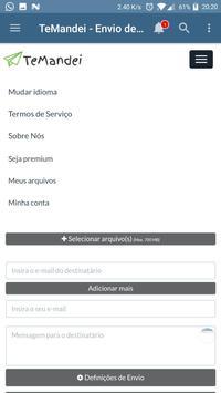 TeMandei - Envio de arquivos GRANDES Online screenshot 2