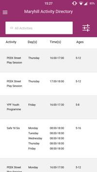 Maryhill Activity Directory apk screenshot