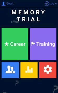 Memory Trial: Check memory! screenshot 1