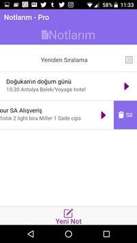 Notlarım Pro apk screenshot