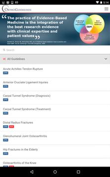 OrthoGuidelines apk screenshot