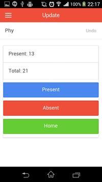 Attendance Diary apk screenshot