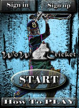 WoW Cricket!! poster