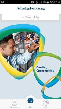 Advantage Resourcing Job Search poster