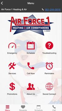 Air Force 1 Air Heating and Air Conditioning poster