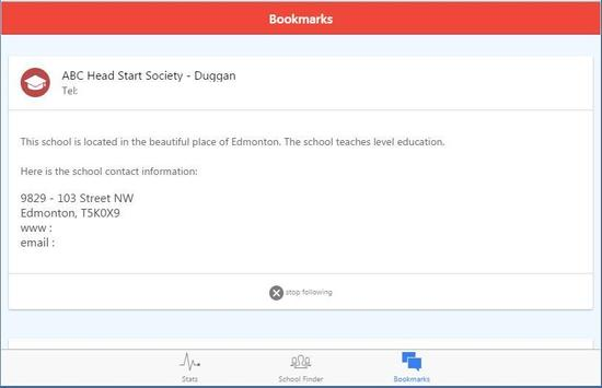 Schools in Alberta, Canada apk screenshot