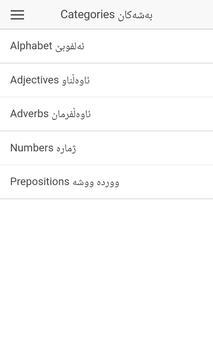 Basic Kurdish Words poster