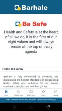 Barhale BeSafe poster