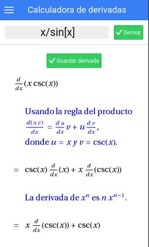 Calcula derivadas paso a paso for Android - APK Download on