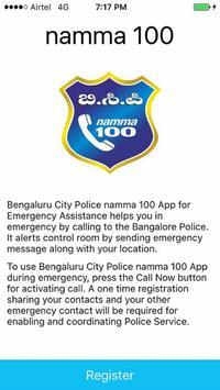 namma 100 App Bengaluru Police poster