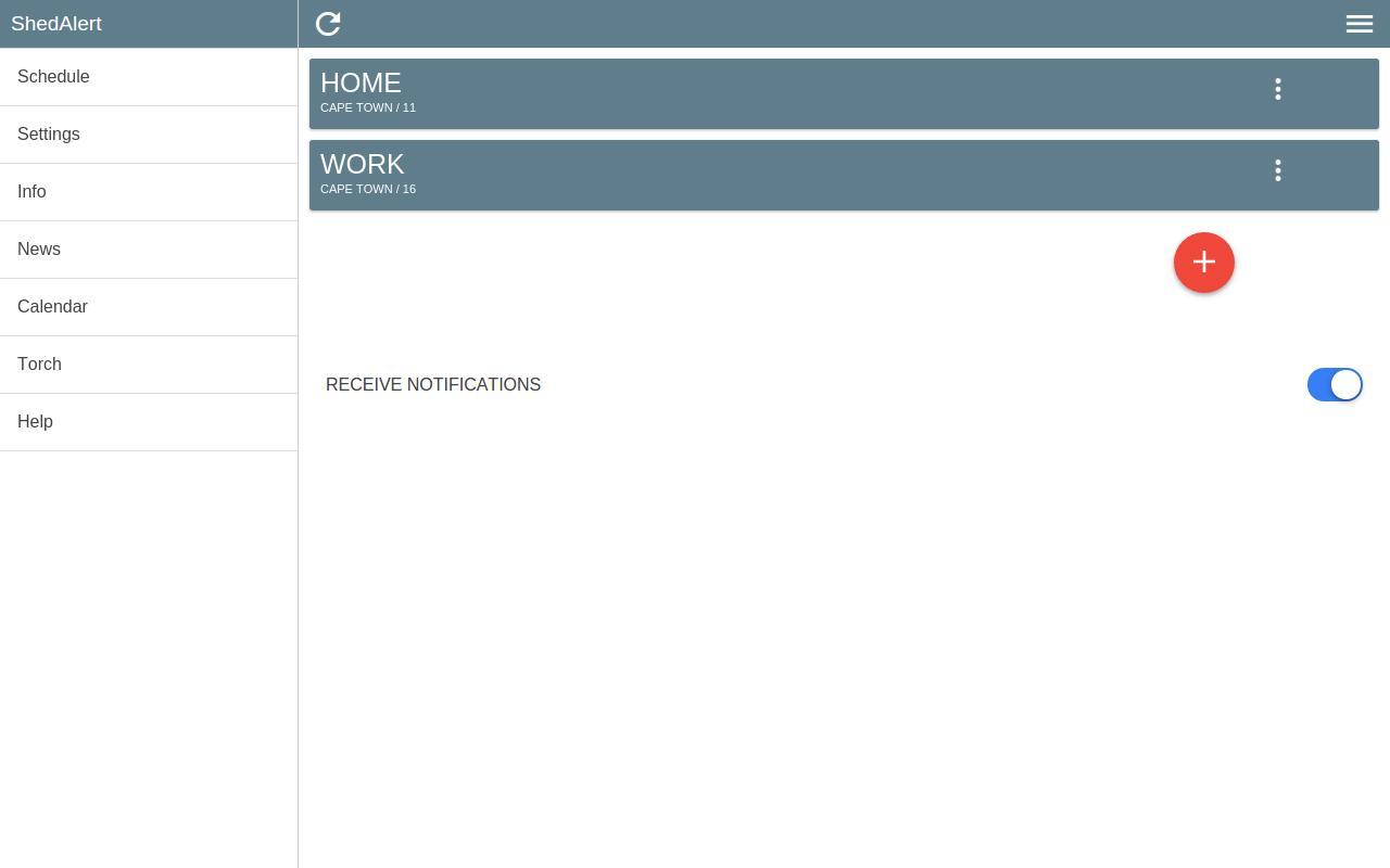 ShedAlert load shedding alerts for Android - APK Download