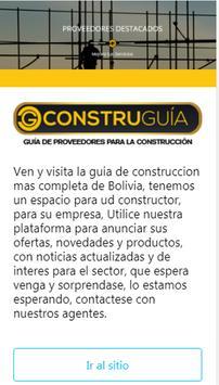 Construguia Bolivia poster