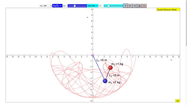 Double Pendulum Simulator screenshot 2