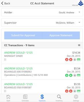 ExpenseReports - NSI apk screenshot