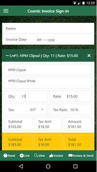 Cosmic Invoice Solutions apk screenshot