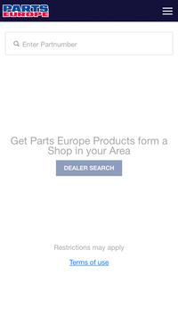 Parts Europe Inventory Search poster