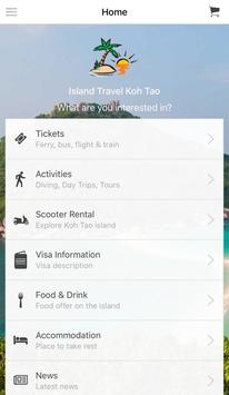 Island Travel Koh Tao poster
