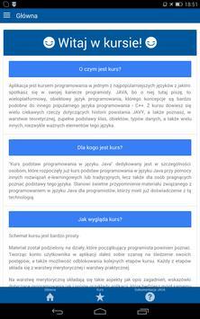 Kurs programowania JAVA poster