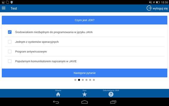 Kurs programowania JAVA apk screenshot