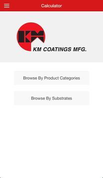 KM Coatings Calculator poster