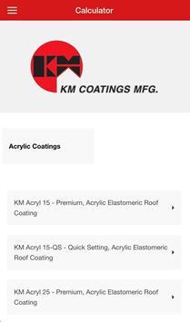 KM Coatings Calculator apk screenshot