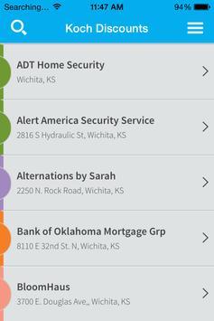 Koch Community Discounts screenshot 2