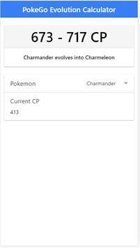 PokeGo Evolution Calculator apk screenshot